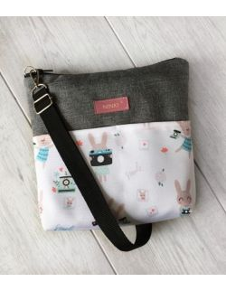 wodoodporna torebka dla dziewczynki Ninki® (króliczki z aparatem)