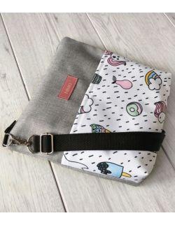 wodoodporna torebka dla dziewczynki Ninki® (jednorożec na białym tle)