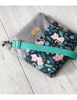 wodoodporna torebka dla dziewczynki Ninki® (kotek na ciemnym tle)