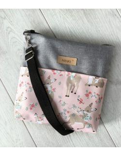 wodoodporna torebka dla dziewczynki Ninki® (sarenka na różowym tle)