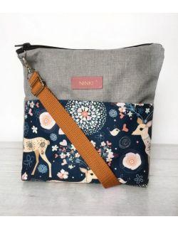 wodoodporna torebka dla dziewczynki Ninki® (sarenka na granatowym tle)