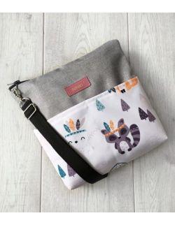 wodoodporna torebka dla dziewczynki Ninki® (indiańskie zwierzątka-jasne tło)
