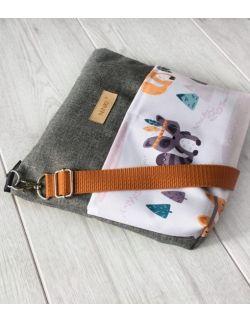 wodoodporna torebka dla dziewczynki Ninki® (indiańskie zwierzątka - ciemne tło)