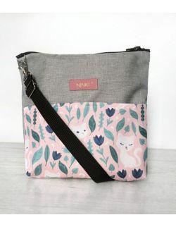 wodoodporna torebka dla dziewczynki Ninki® (białe kotki na różowym tle)