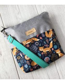 wodoodporna torebka dla dziewczynki Ninki® (lisek na granatowym tle)