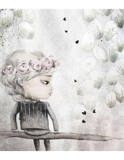 ALONA - plakat na płótnie do pokoju dziewczynki, ilustracja na ścianę, dekoracja dla dziecka