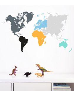 naklejka MAPA kolorowa 01