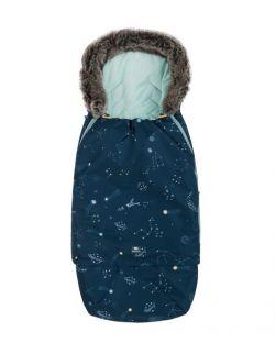 Śpiworek SUPERB Eskimo do wózka, fotelika, gondoli rośnie z dzieckiem galaktyka mięta