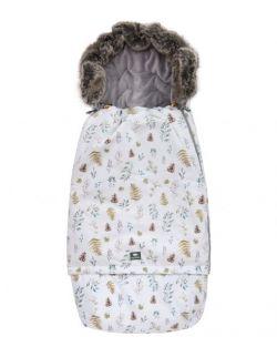 Śpiworek SUPERB Eskimo do wózka, fotelika, gondoli rośnie z dzieckiem leśny srebrny