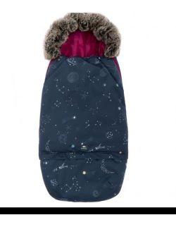 Śpiworek SUPERB Eskimo do wózka, fotelika, gondoli rośnie z dzieckiem galaktyka magenta