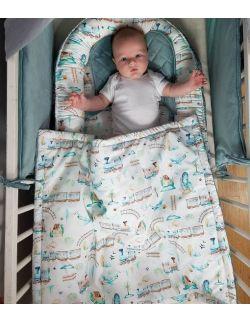 kocyk niemowlęcy kolorowa podróż