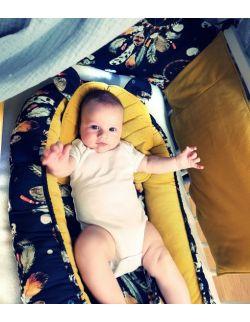 5-elementowa wyprawka dla niemowląt kolorowe sny na granacie