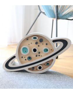 Lampka planeta miętowa z el. drewna