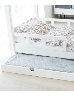 Łóżko Domek Maya dla dzieci drewniane 80x160 70x160 biały,szary, rózówy Barierki Szuflada drugie spanie
