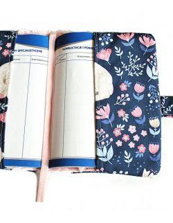Etui na książeczkę zdrowia Jelonki& chevron róż