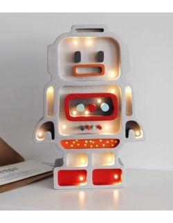Lampka robot srebrny