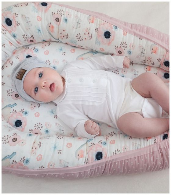 Starter niemowlęcy Ptaszki: kokon + pościel + rożek