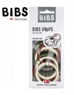 BIBS LOOPS - SAND / GREEN HUNTER/RUST 12 PACK