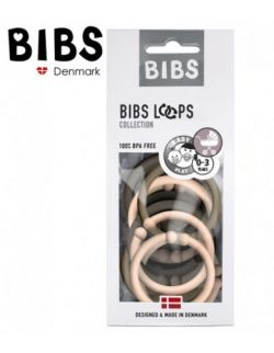 BIBS LOOPS -CHOCOLATE/ BLUSH / DARK OAK 12 PACK