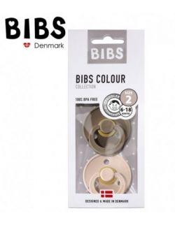 Smoczek Uspokajający Hevea BIBS zestaw 2 szt blush/dark oak M