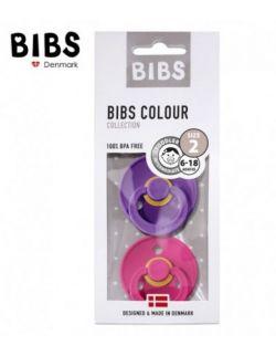 Smoczek Uspokajający Hevea BIBS zestaw 2 szt purple/raspberry M