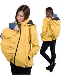 EVEREST Kurtka softshell ciążowa oraz do noszenia dziecka - MUSZTARDOWA