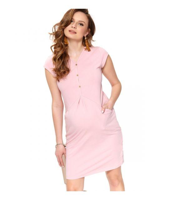 fb6423ed31 Różowa sukienka ciążowa z bawełny organicznej - Mamaville