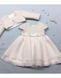 sukieneczka z żakardu ze srebrną nitką