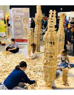 Klocki Linden 1000 szt. luzem edukacyjne konstrukcyjne drewniane sensoryczne