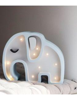 Lampka słonik biały