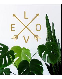 LOVE BOHO napis love naklejka na ścianę M