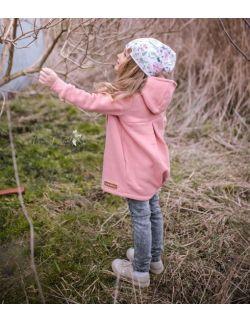 Płaszcz dziecięcy wiosenno-jesienny - łososiowy