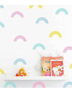 TĘCZA naklejki na ścianę confetti zestaw tęcz