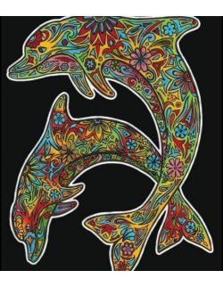 Kolorowanka Welwetowa 47x35 Delfiny