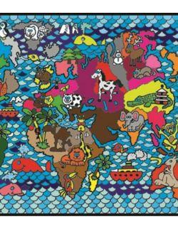 Kolorowanka Welwetowa 47x35 Mapa Świata