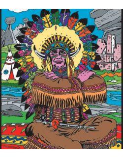 Kolorowanka Welwetowa 47x35 Wódz Indian