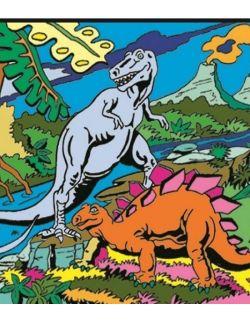 Kolorowanka Welwetowa 47x35 2 Dinozaury