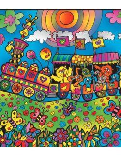 Kolorowanka Welwetowa 47x35 Pociąg