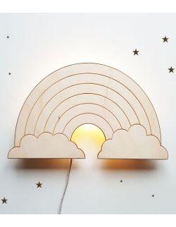 Drewniana lampka nocna - Tęcza