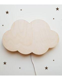 Drewniana lampka nocna - chmurka TOSIA