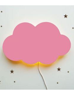 Drewniana lampka nocna - chmurka TOSIA pudrowy róż