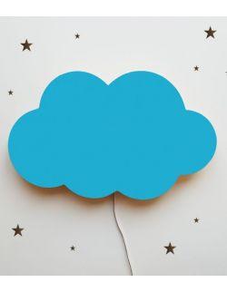 Drewniana lampka nocna - chmurka TOSIA niebieska
