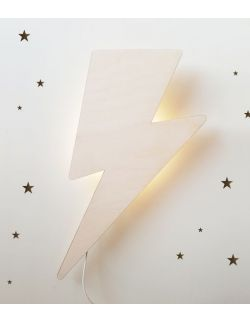 Drewniana lampka nocna - Piorun