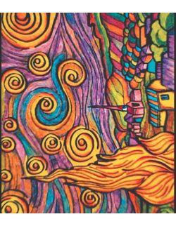 Kolorowanka Van Gogh Gwiaździsta Noc