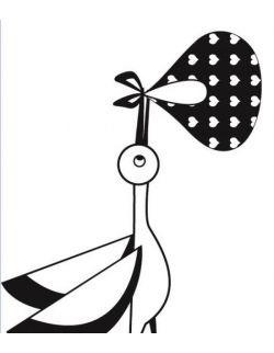 Stempel Bocian z Przesyłką