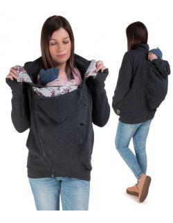 POLA- bluza ciążowa i do noszenia przód/ tył grafit