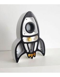 Lampka rakieta biała