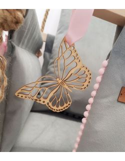 Huśtawka Royal Handmade szaro-różowa