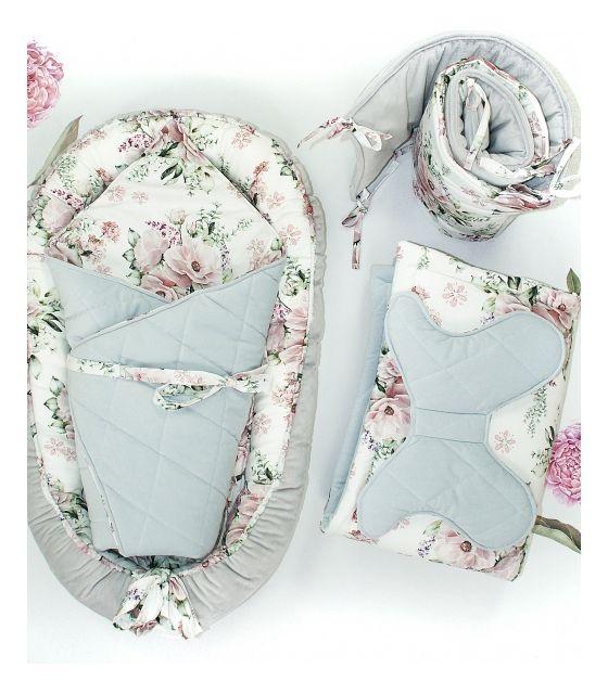 5-elementowa wyprawka dla niemowląt lovely flowers