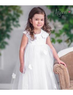 Sukienka do chrztu wizytowa Laura BIAŁA 62-104